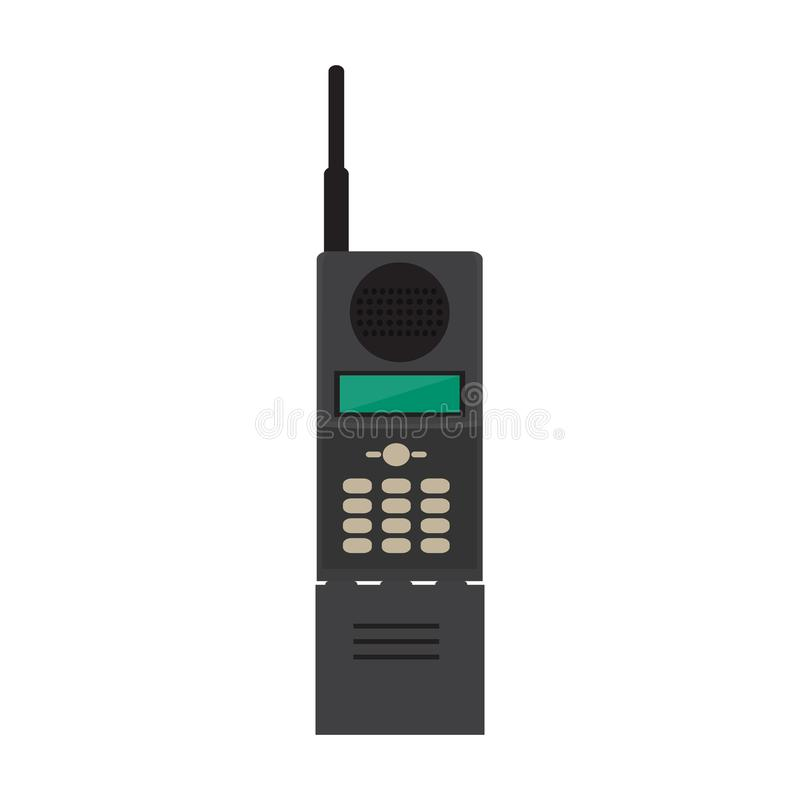 Изолированный старый значок мобильного телефона иллюстрация вектора
