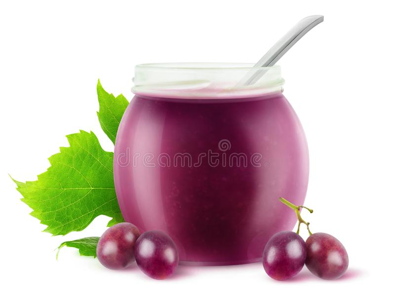 Изолированный студень виноградин стоковое изображение rf