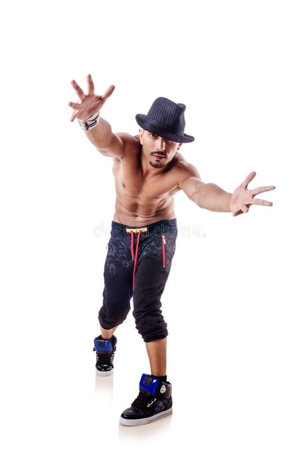 Изолированный танцор обнажённого стоковая фотография rf