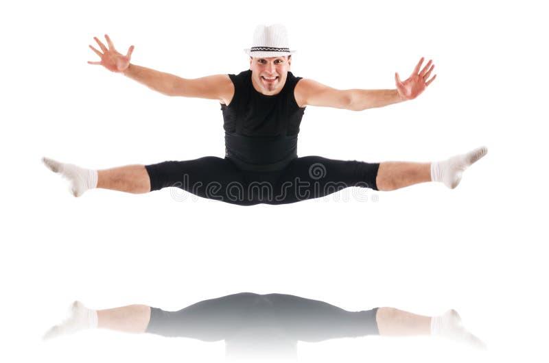 Изолированный танцор Стоковая Фотография