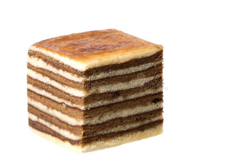 изолированный торт наслоенным стоковое изображение rf