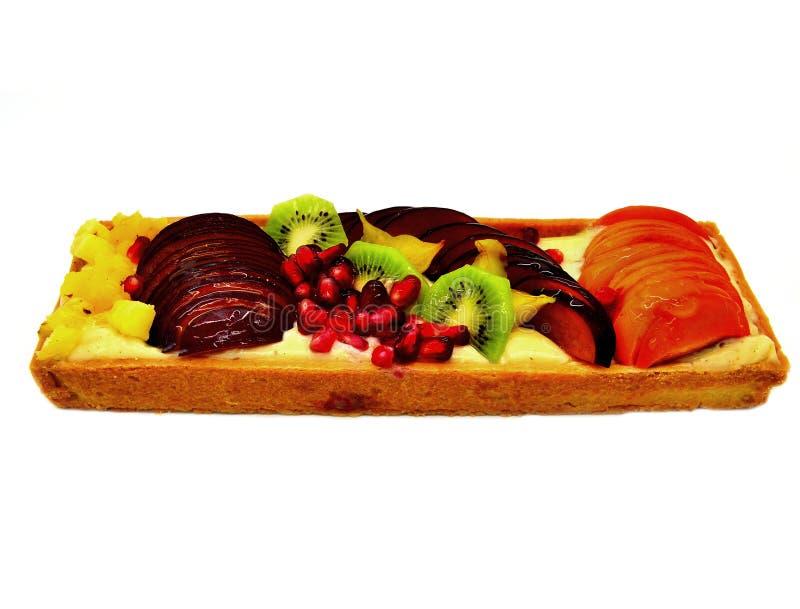 Изолированный торт плода стоковое изображение