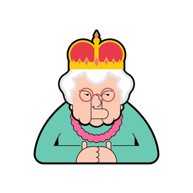 Изолированный ферзь Пожилая женщина босса в кроне также вектор иллюстрации притяжки corel бесплатная иллюстрация