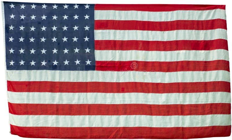 Изолированный флаг Соединенных Штатов винтажный стоковое изображение