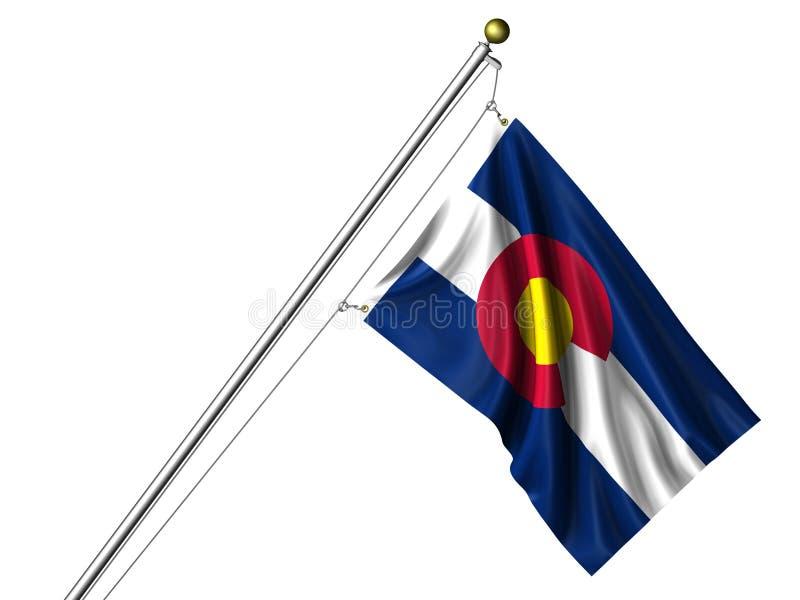 изолированный флаг colorado иллюстрация вектора