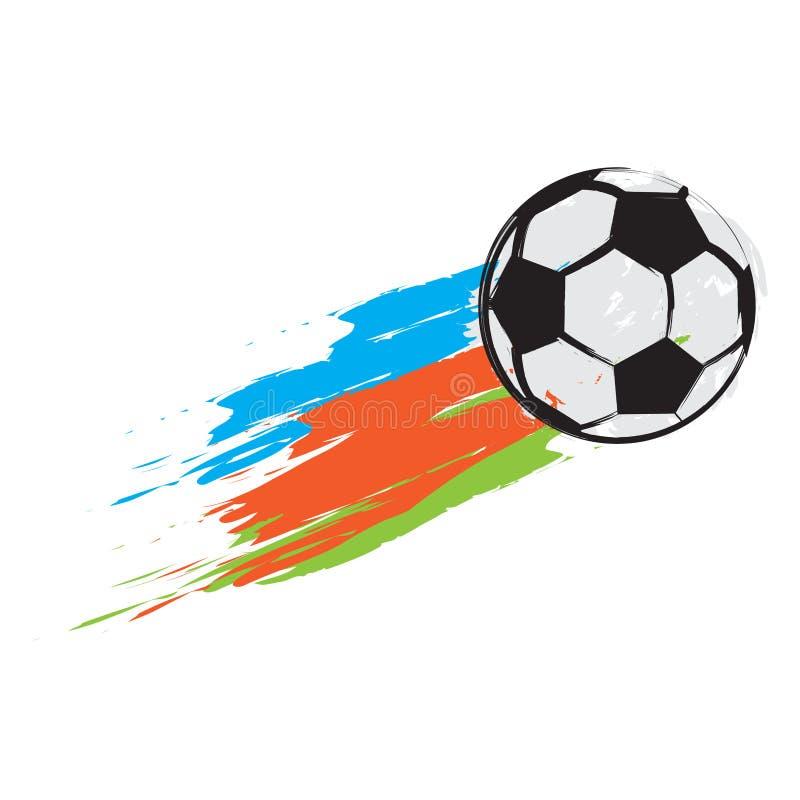 Изолированный футбольный мяч с влиянием иллюстрация вектора