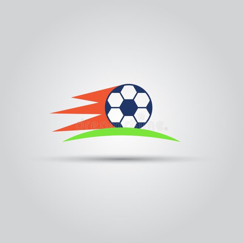 Изолированный футбольным мячом значок покрашенный вектором бесплатная иллюстрация