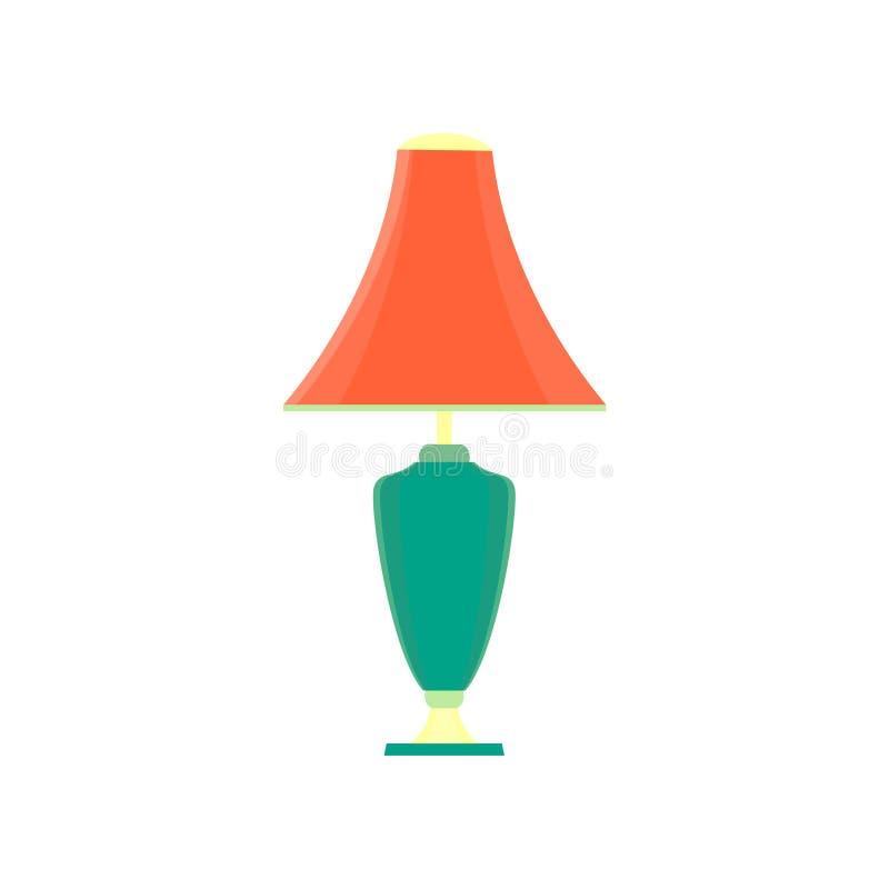 Изолированный цвет значка таблицы дизайна иллюстрации света вектора стола лампы электрический бесплатная иллюстрация