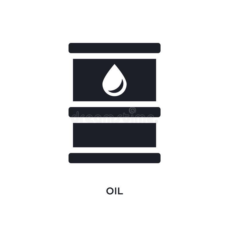изолированный черным смазочным минеральным маслом значок вектора простая иллюстрация элемента от значков вектора концепции индуст бесплатная иллюстрация