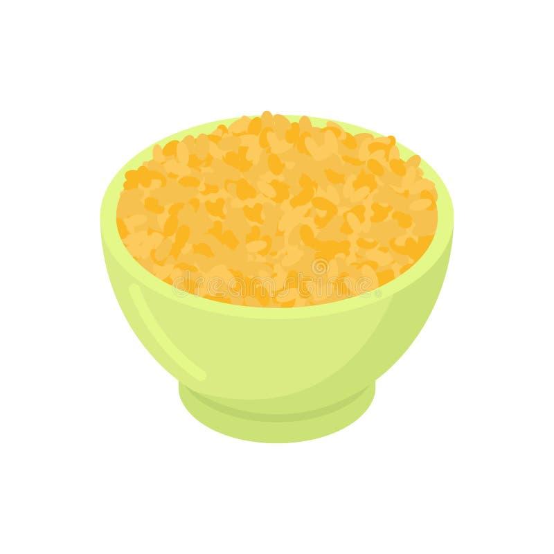 Изолированный шар gruel булгура Здоровая еда для завтрака Vecto бесплатная иллюстрация