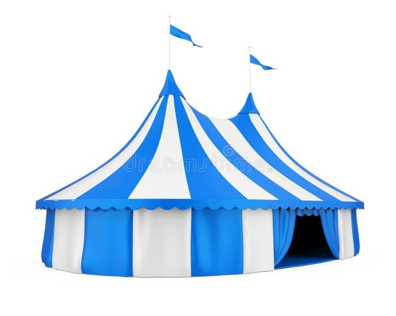 Изолированный шатер цирка иллюстрация штока