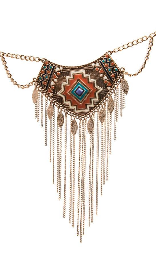 Изолированный шкентель ожерелья стоковое фото