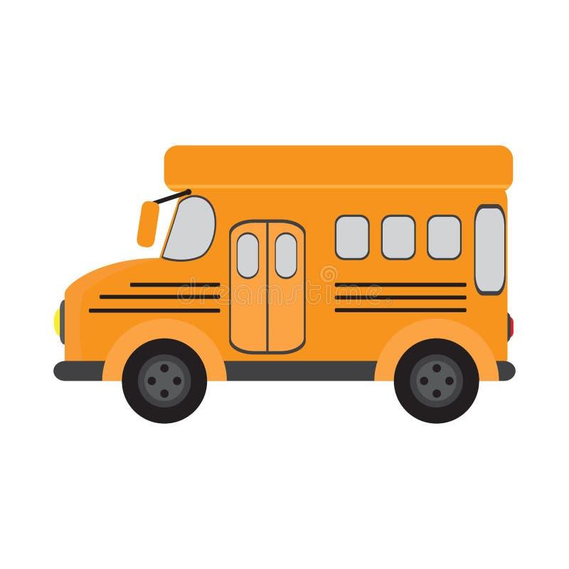 Изолированный школьный автобус иллюстрация вектора