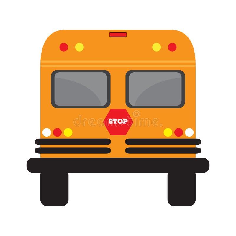 Изолированный школьный автобус иллюстрация штока