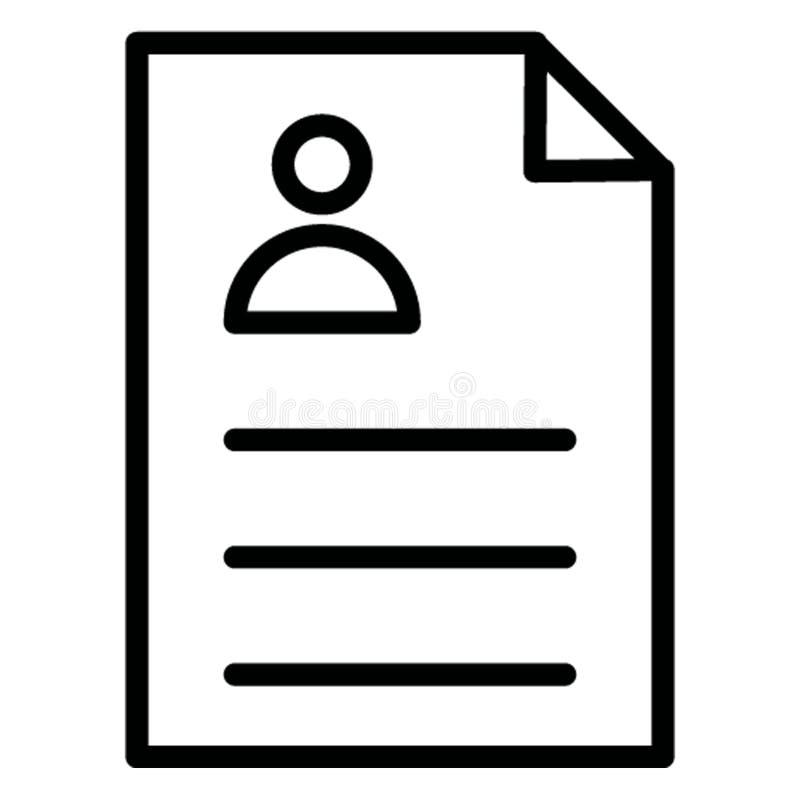Изолированный Biodata значок вектора который может легко доработать иллюстрация штока