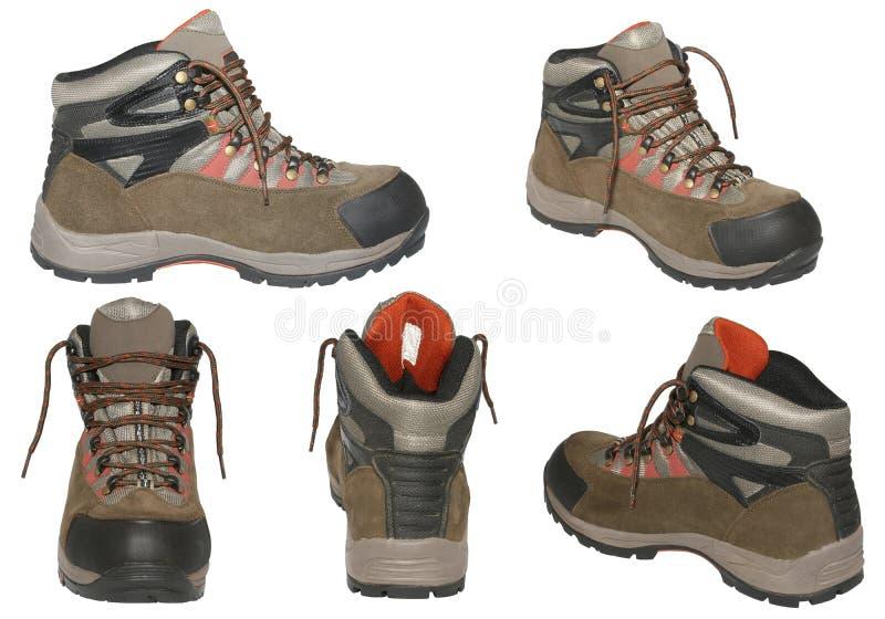 изолированный hiking ботинок иллюстрация штока