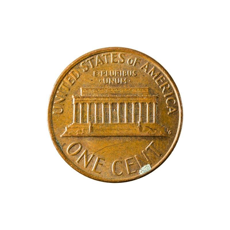 1 изолированный obverse монетки 1977 цента Соединенных Штатов стоковое фото
