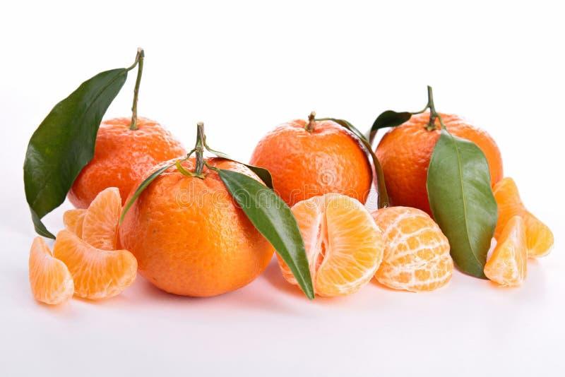 Изолированный tangerine стоковое изображение