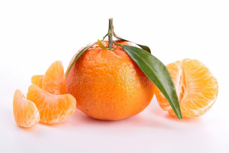 Изолированный tangerine стоковые изображения rf