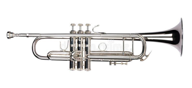 изолированный trumpet стоковые изображения