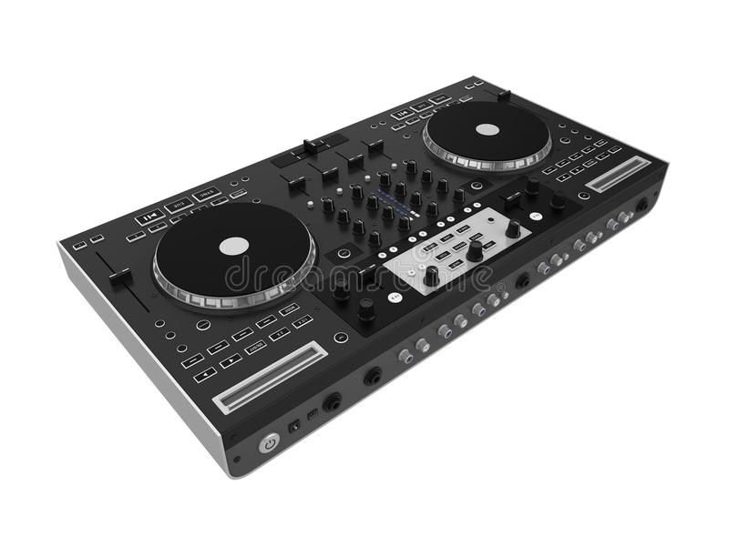 Изолированный Turntable DJ иллюстрация штока