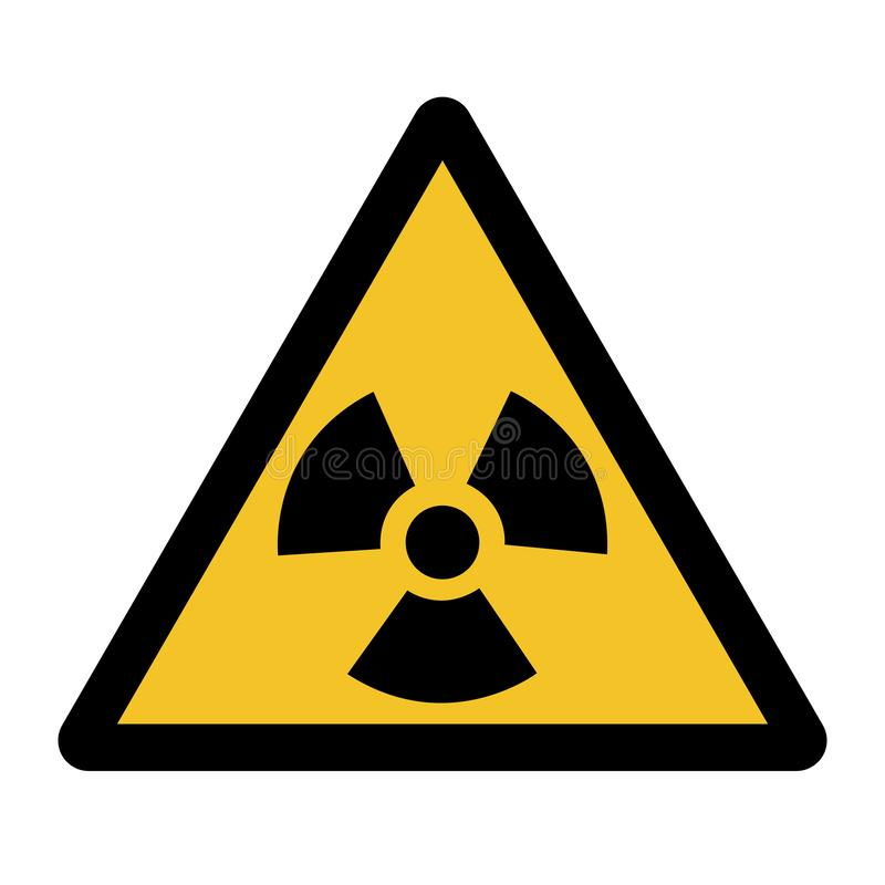 Изолят знака символа опасности радиации на белой предпосылке, иллюстрации EPS вектора 10 иллюстрация вектора