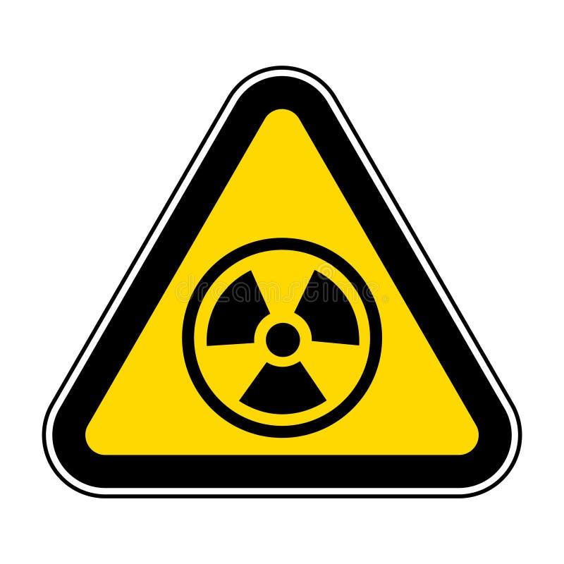 Изолят знака символа опасности радиации на белой предпосылке, иллюстрации EPS вектора 10 иллюстрация штока