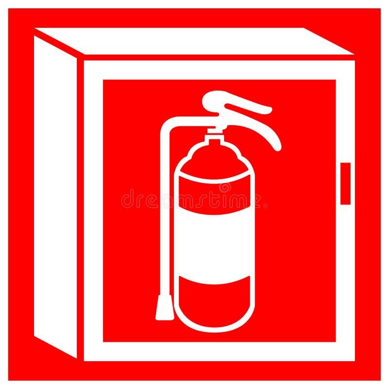 Изолят знака символа шкафа огня на белой предпосылке, иллюстрации EPS вектора 10 иллюстрация штока