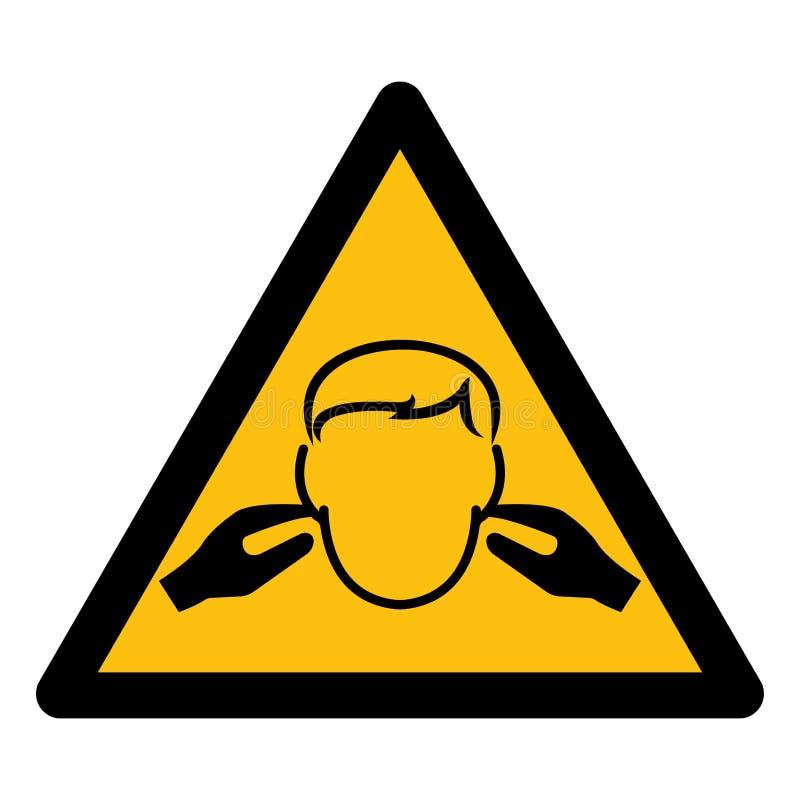 Изолят знака символа шума на белой предпосылке, иллюстрации EPS вектора 10 иллюстрация штока