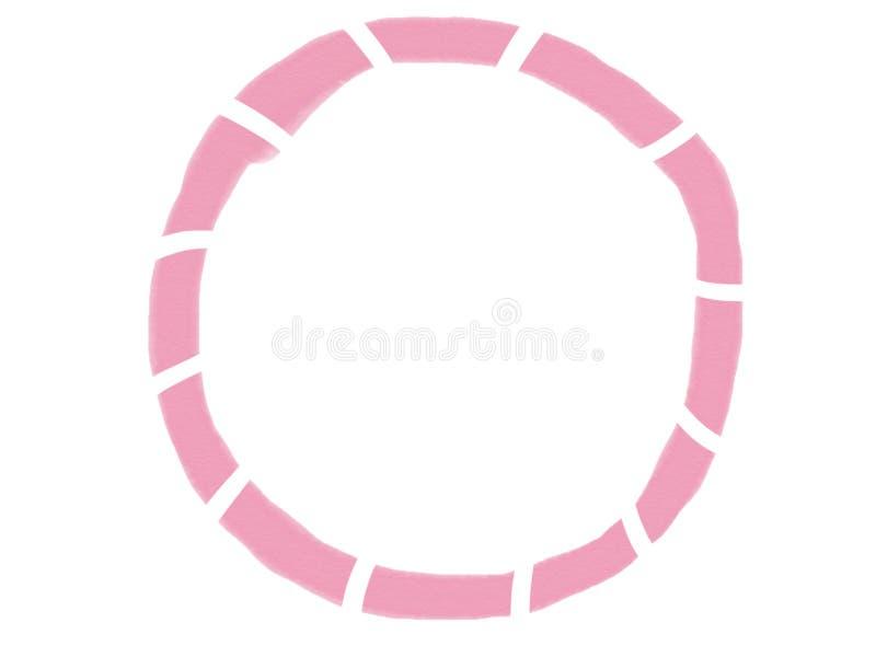 изолят рамки акварели cicle Мягк-цвета винтажный пастельный абстрактный с покрашенными тенями розового цвета, иллюстрации бесплатная иллюстрация