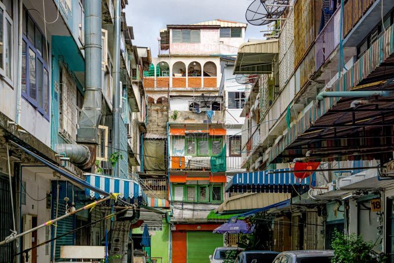 Изощренные здания в городе Бангкока стоковая фотография