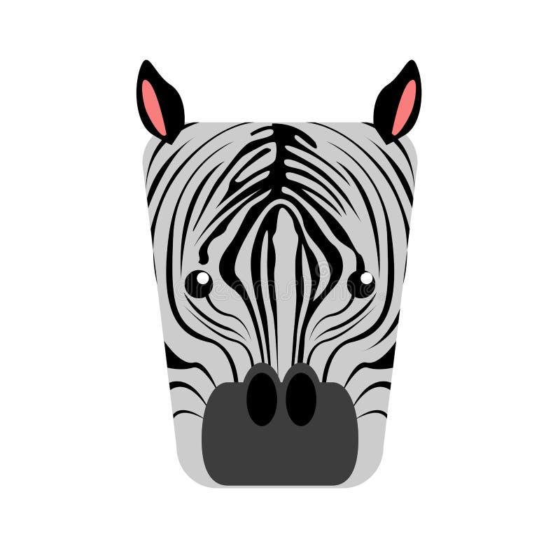 Изолированная абстрактная зебра бесплатная иллюстрация