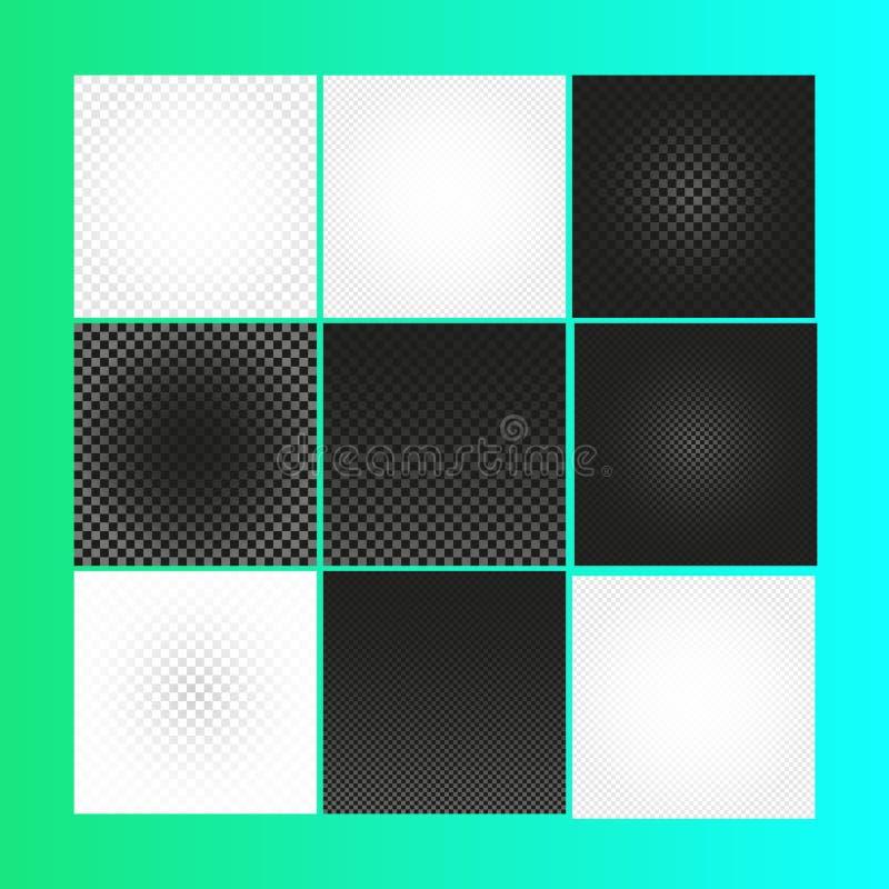 Изолированная абстрактная checkered предпосылка вектора Черно-белый фон квадратов иллюстрация вектора