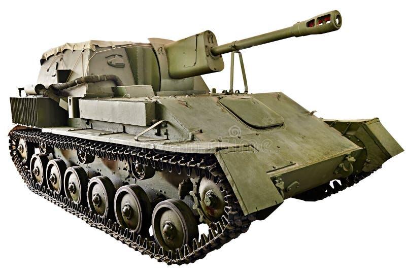 Изолированная артиллерия SU-76M советского танка самоходная стоковое изображение rf