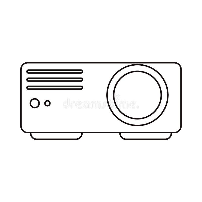 Изолированная балочная схема видео кино бесплатная иллюстрация