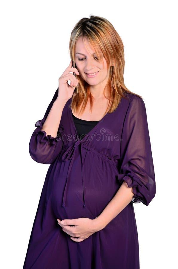 изолированная беременная женщина стоковая фотография