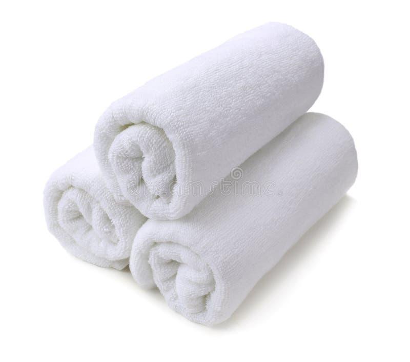 изолированная белизна полотенца стоковые изображения rf
