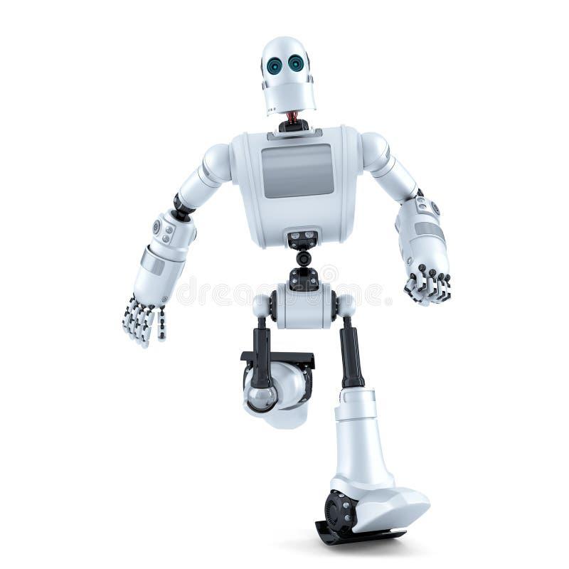 изолированная белизна робота Содержит путь клиппирования бесплатная иллюстрация