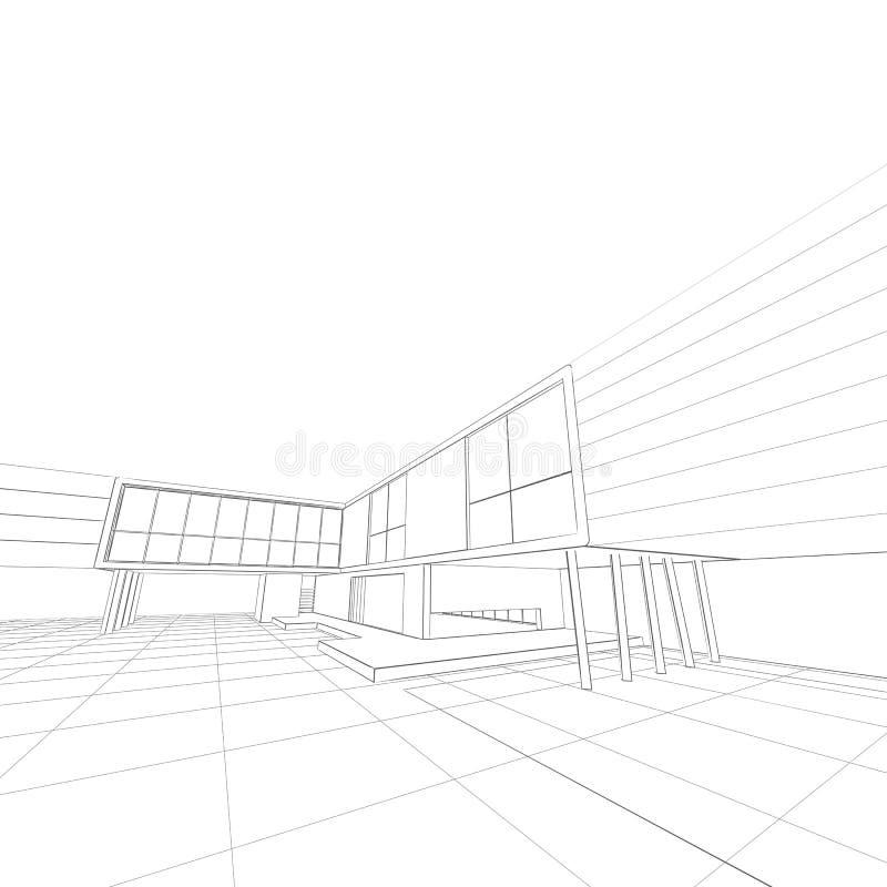 Изолированная белизна светокопии дома иллюстрация вектора