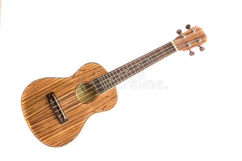 Изолированная гавайская гитара на белой предпосылке стоковые фото