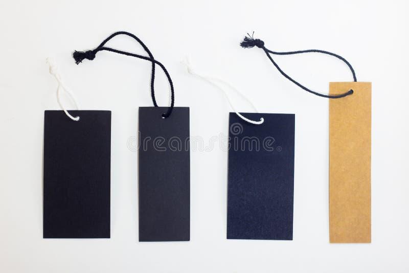 Изолированная группа в составе пустой ценник стоковое изображение