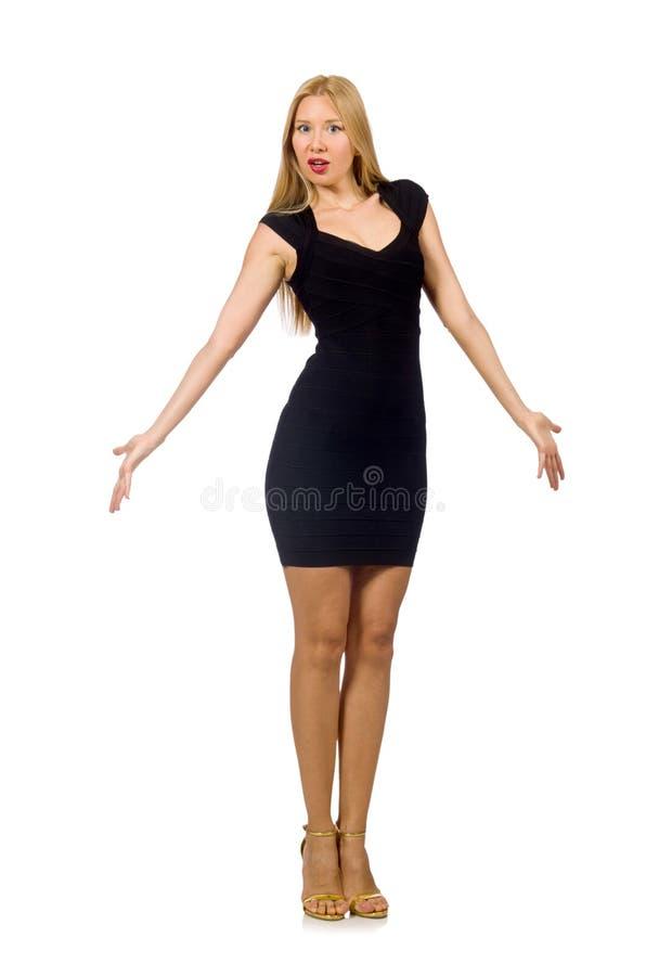 Изолированная женщина в концепции моды стоковая фотография