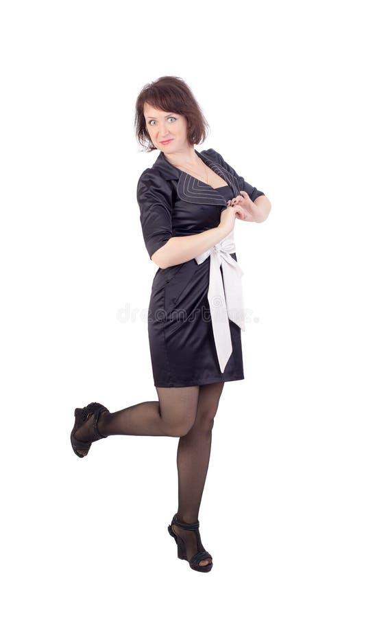 изолированная женщина шаловливого портрета белая стоковая фотография rf