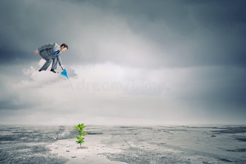 Download изолированная иллюстрация роста принципиальной схемы предпосылки 3d представила белизну Стоковое Изображение - изображение насчитывающей мужчина, доход: 41650969