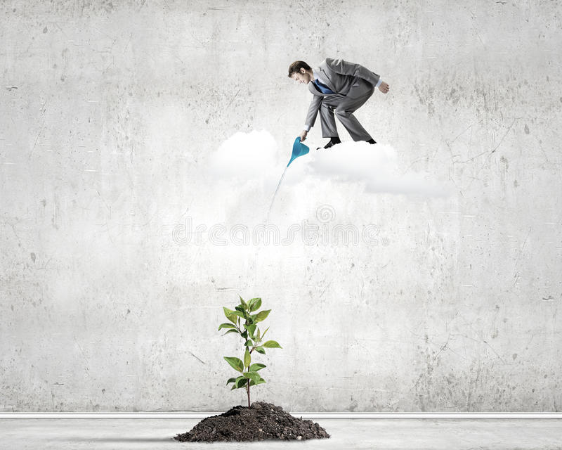 Download изолированная иллюстрация роста принципиальной схемы предпосылки 3d представила белизну Стоковое Фото - изображение насчитывающей мужчина, экологичность: 41651692