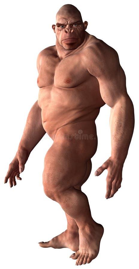 Изолированная иллюстрация троглодита неандерталца бесплатная иллюстрация