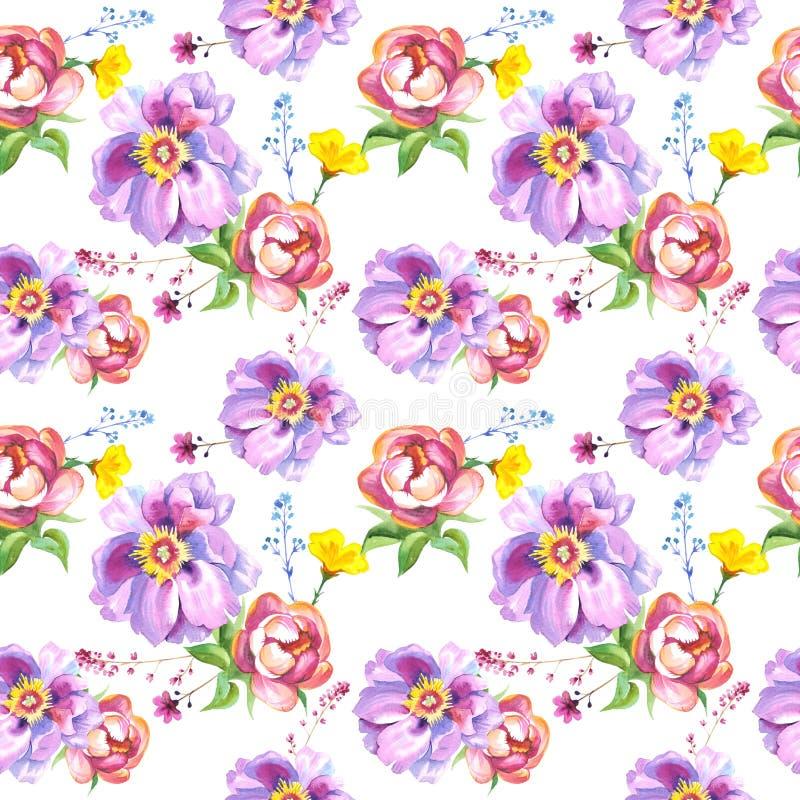 Изолированная картина цветка Wildflower розовая в стиле акварели бесплатная иллюстрация