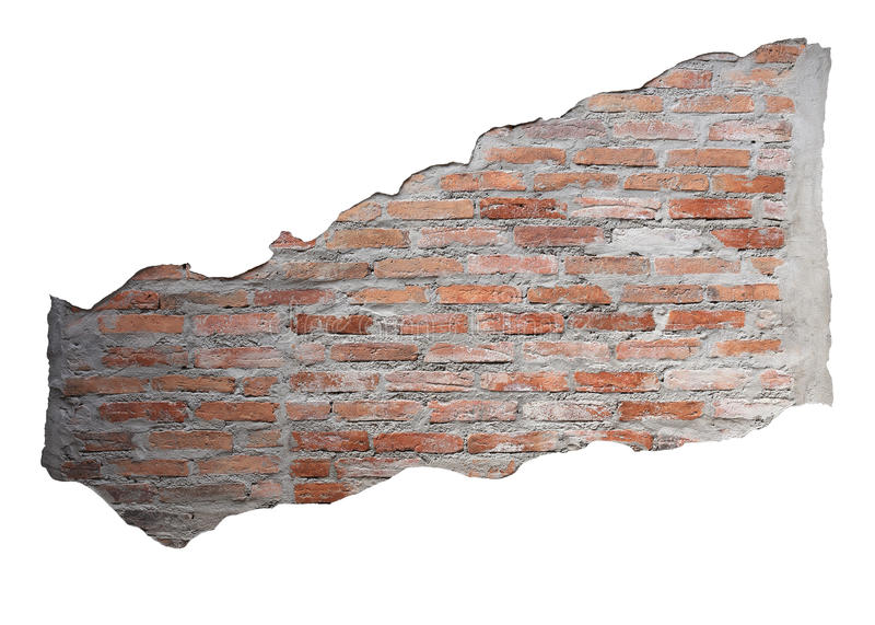 Изолированная кирпичная стена стоковое изображение