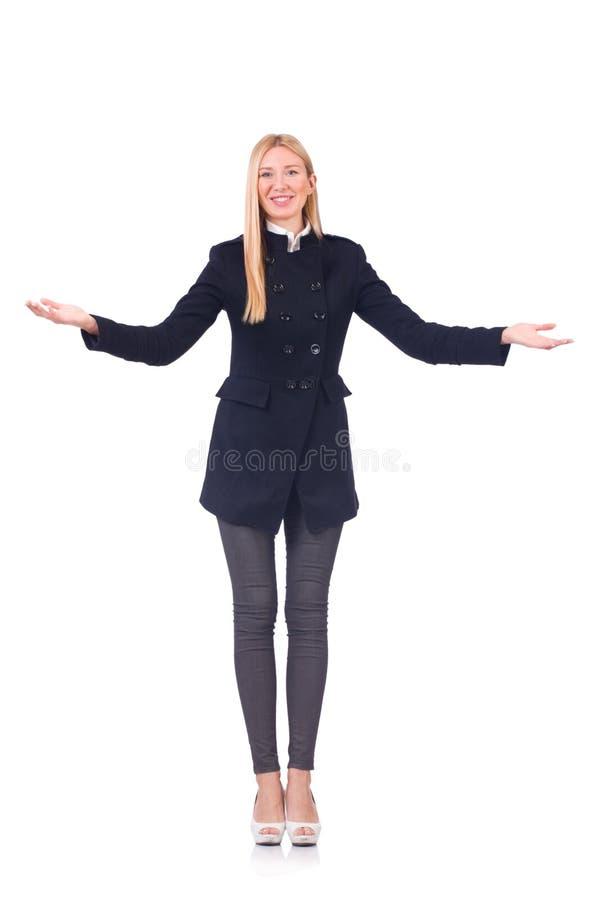 Изолированная коммерсантка женщины в концепции дела стоковое фото rf