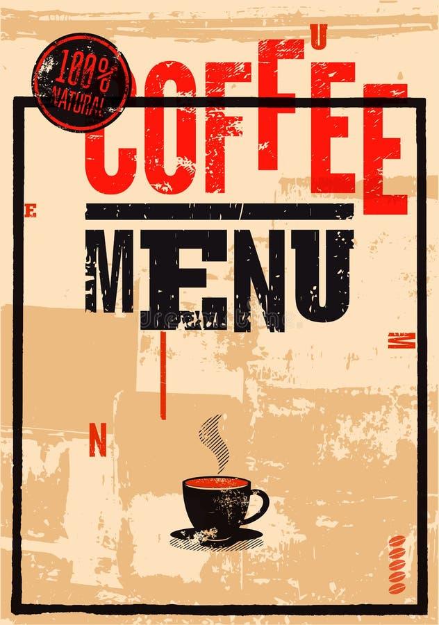 изолированная кофе белизна меню Типографский ретро плакат для ресторана, кафа или кофейни также вектор иллюстрации притяжки corel бесплатная иллюстрация